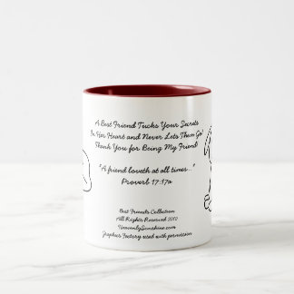 Beste Freund-Sammlungs-Geheimnisse Zweifarbige Tasse