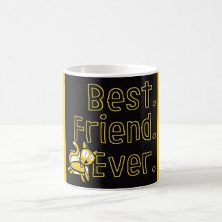 Beste Freund-überhaupt Schwarz-und-Gelbe Tasse