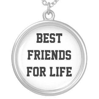 Beste Freunde für das Leben Versilberte Kette