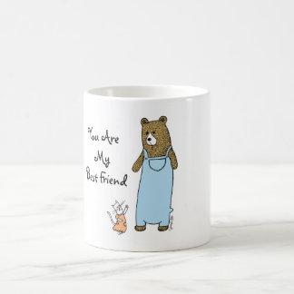 Beste Freunde Katze und Bärn-Kaffeetasse Tasse