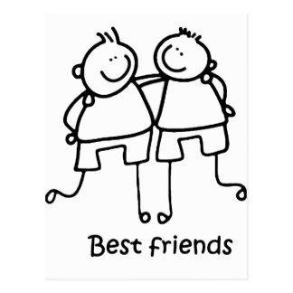 Beste Freunde Melhores Freunde Postkarte