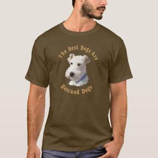 Beste Hunde sind geretteter Draht-Foxterrier) T-Shirt