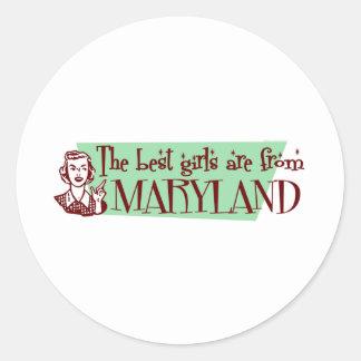 Beste Mädchen sind von Maryland Aufkleber