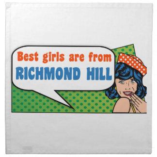 Beste Mädchen sind von Richmond-Hügel Stoffserviette
