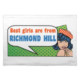 Beste Mädchen sind von Richmond-Hügel Stofftischset