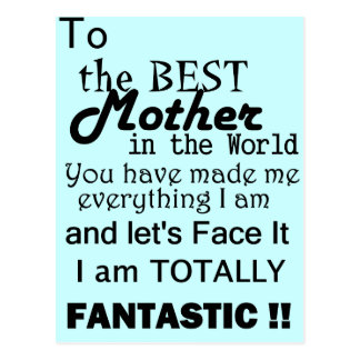 Beste Mutter in der Welt Postkarte