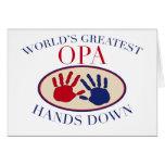 Beste Opa Hände unten Grußkarte