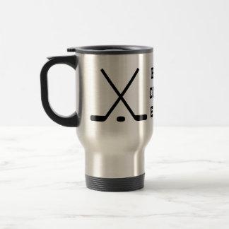 Beste Reisekaffee-Tasse des Eishockeyzuges Edelstahl Thermotasse