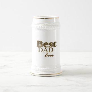 Beste Vati-überhaupt elegante goldene Bierglas