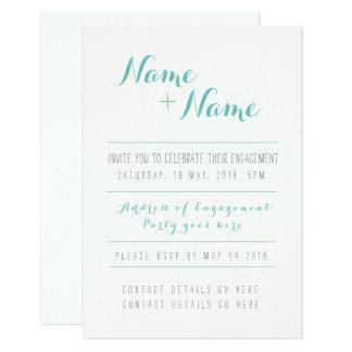 Beste Verlobungs-Einladung 8,9 X 12,7 Cm Einladungskarte