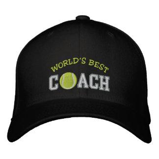 Bester das Tennis-Trainer der Welt Bestickte Kappe