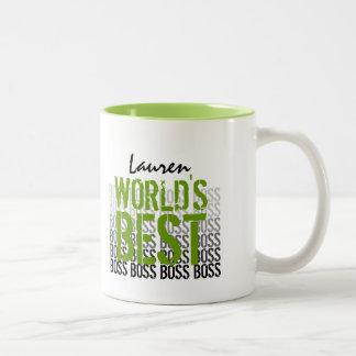 Bester der Chef-Schmutz der Welt, der Grün 013 Zweifarbige Tasse