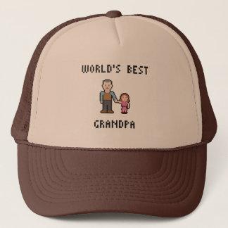 Bester der Großvater-Hut der Pixel-Welt Truckerkappe