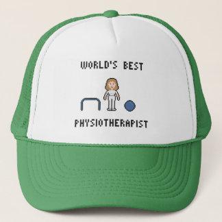 Bester der Physiotherapeuten-Hut 8 Bit-Welt Truckerkappe
