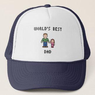 Bester der Vati-Hut der Pixel-Welt Truckerkappe
