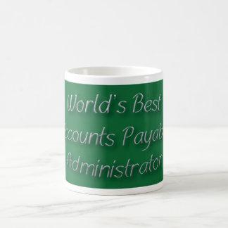 Bester die Rechnungs-Verwalter der Welt Kaffeetasse