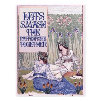 Bester feministischer Freund Postkarte
