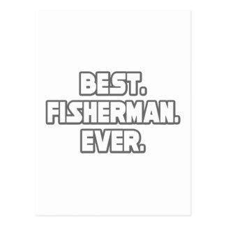 Bester Fischer überhaupt Postkarte