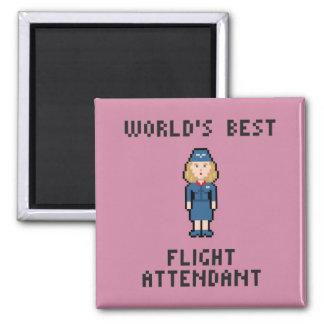 Bester Flugbegleiter der Welt Quadratischer Magnet
