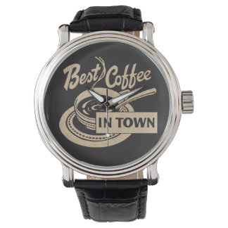 Bester Kaffee in der Stadt Armbanduhr