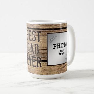 Bester Vati überhaupt in den rustikalen Kaffeetasse