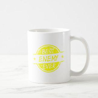 Bestes Feind-überhaupt Gelb Tasse