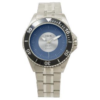 BESTES Monogramm des VATIS | und editable Farbe Uhren