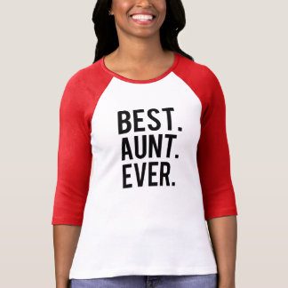 Bestes Tante Ever lustiges Raglan-Shirt T-Shirt