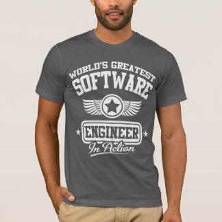 Bestste Software Engineer der Welt in der Aktion T-Shirt