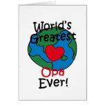 Beststes das Opa der Welt Herz Grußkarten