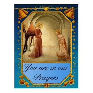 Besuch des Engels Gabriel Postkarte