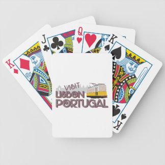 Besuch Lissabon Portugal Bicycle Spielkarten