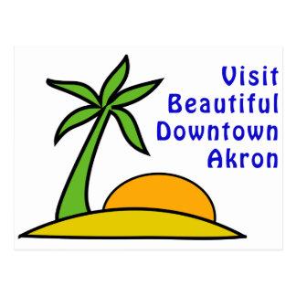 Besuch schönes im Stadtzentrum gelegenes Akron Postkarte