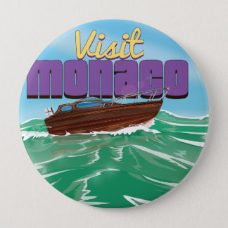 Besuchs-Monaco-Reise-Plakat Runder Button 10,2 Cm
