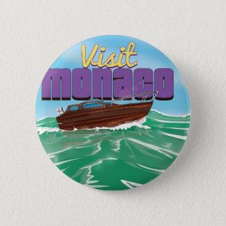Besuchs-Monaco-Reise-Plakat Runder Button 5,7 Cm