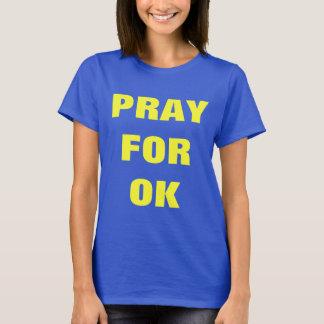 Beten Sie für O.K. - Oklahoma-Desaster-StützT - T-Shirt