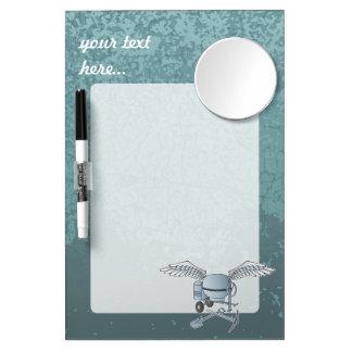 Betonmischer blau-grau trockenlöschtafel mit spiegel
