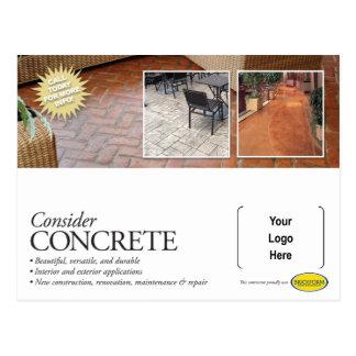 Betrachten Sie konkrete Werbung für Brickform Postkarte