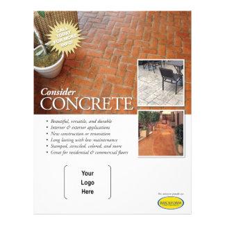 Betrachten Sie konkreten Flyer für Brickform