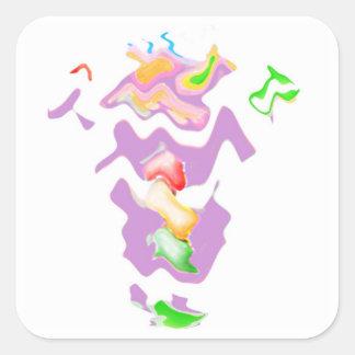 Betrunkener Oma-Wellen-Tanz Quadratischer Aufkleber