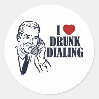 Betrunkenes Wählen Runder Aufkleber