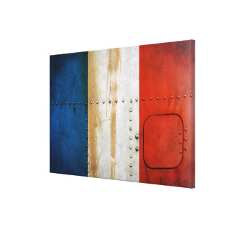 Beunruhigte Landesflaggen | Frankreich Leinwanddruck