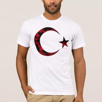 Beunruhigte türkische Flagge Emblam T-Shirt