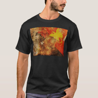 Beunruhigter Papua-Neu-Guinea Flaggen-T - Shirt