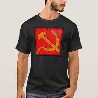 Beunruhigter sowjetischer Hammer-und Sichel-T - T-Shirt
