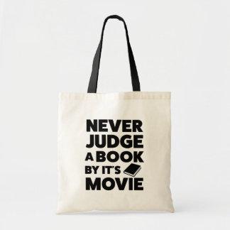 Beurteilen Sie nie ein Buch durch seine Filmtasche Tragetasche