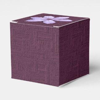 Bevorzugung/Geschenkboxen - lila Clematis Geschenkschachtel