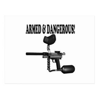 Bewaffnet und gefährlich postkarte