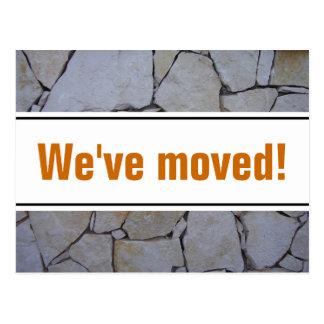 Bewegliche Postkarten mit Steinwandhintergrund
