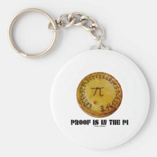 Beweis ist im PU (PUs auf gebackener Torte) Standard Runder Schlüsselanhänger